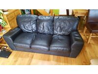 Sofa!!! 3 seater black leather sofa. Need gone ASAP
