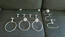 Set of bathroom fittings