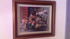 Original Roy Wallace painting signed