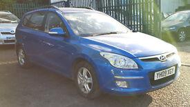 2009 Hyundai I30 1.6 CRDi Diesel Estate Blue + LONG MOT + HPI Clear