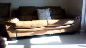 Light brown Leather Sofa