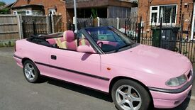 Beautiful Pink lady Convertible unique car head turning summer cruising