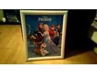 Frozen framed picture