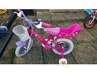Girls mini mouse 12.5 inch wheel bike