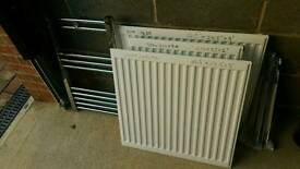 Slim radiator white single