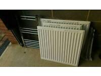 Slim radiator white single