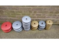 65 kgs of mostly York vinyl weights and bars