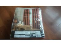 Textured Weave Lined Curtains (Real price £35)