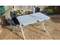 Vango Malibu chairs and Vango Mulberry Table - ideal for camping, caravanning or picnics.