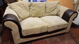 Cream fabric sofa. FREE delivery in Derby