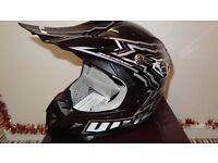 wulfsport helmet motocross motox quad youth junior kid black size l
