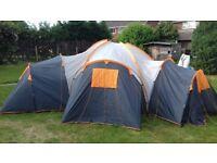 6 berth tent and camping stove