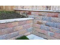 Rustic red concrete walling/bricks 40cm×20cm