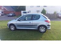 EXCELLENT CONDITION AND SERVICE HISTORY PEUGEOT 206 1400cc