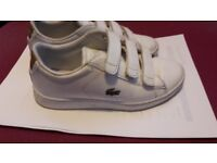 BOYS LACOSTE SHOES IN WHITE COLOR