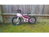 Girls pink adventure bike (16 inch)