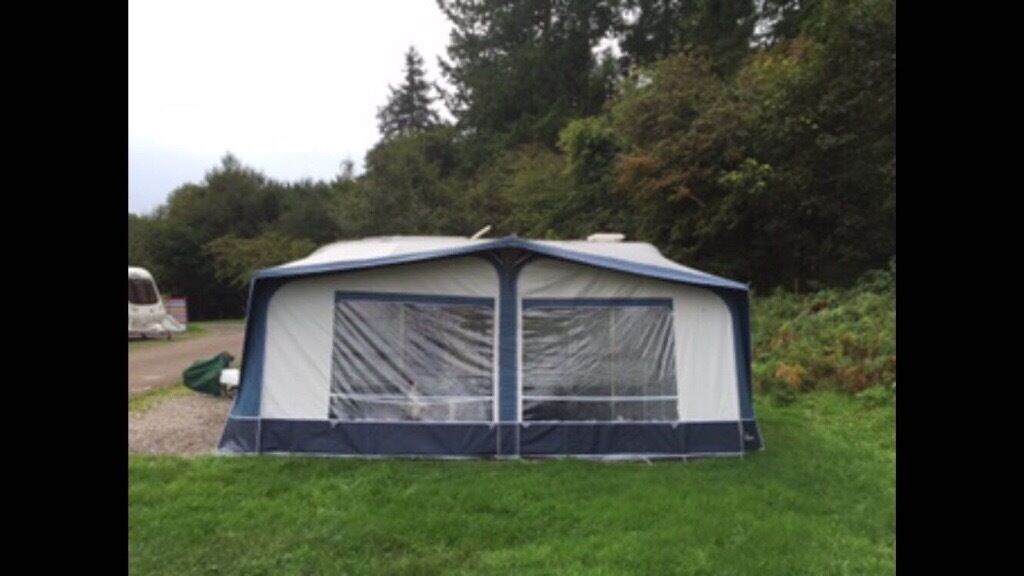 Used Star Camp Cameo Full Caravan Awning Blue Size 13 950 975cm