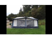 Used star camp Cameo full caravan awning blue size 13 950-975cm