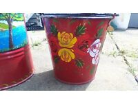 matching bucket and scuttle painted