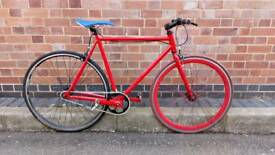54cm Serviced Single Speed Bike Including Receipt & ID