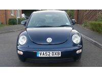 VW beetle auto low miles full service history