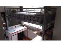 Space-Saving Child's Loft Bed and Table in Very Good Condition