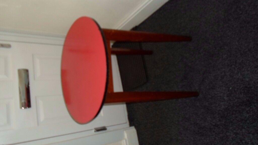 vintage circular formica pub table