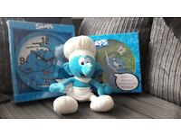 Smurf clocks with Smurf chef teddy