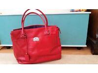 Red leather tote bag (L. Credi) RRP £45
