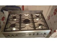 Smeg duelfuel stainless steel cooker