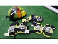 Kids turtle safety helmet and pads