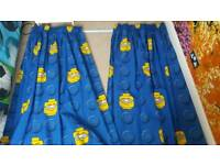 Blue and Yellow Lego Curtians with curtain track