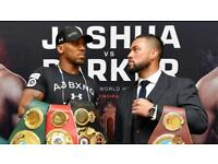 ANTHONY JOSHUA vs JOSEPH PARKER TICKETS - BOXING - WORLD HEAVYWEIGHT CHAMPIONSHIP FIGHT