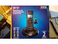 home phone with answering machine Graphite 2500