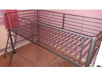 Single mid sleeper bed - Silver
