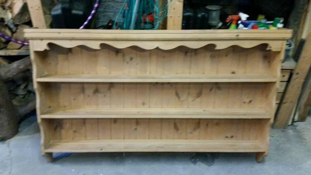 Solid Pine Welsh Dresser Top Wall Mounted Shelf