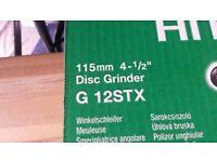 "Hitachi 115mm 4-1/2"" Angle Grinder 230v G 12STX 600 Watt *BRAND NEW IN BOX*"