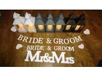Wedding decorations - lanterns, crystals