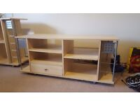 TV stand and Hifi stand for sale as pair