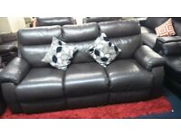 Top quality real leather*Laz - Boy 3 seater plus 2 armchairs*Dark Chocolate Brown*