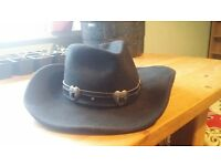mht western master hatters of texas 100% wool cowboy hat