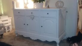 Beautiful white french style reproduction sideboard