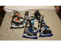 selection of ice skates