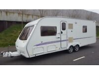 2005 swift conqueror 630 sal,twin axle,fixed bed