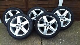 "Audi A6 - 5 x 17"" Alloys and Tyres"