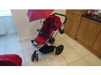 Quinny Buzz pushchair, Stroller Buggy in Red Rumor