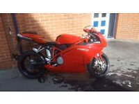 Ducati 749 with full zard exhaust, new clutch and belt fitted.