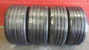 Stag'd SET of 4 ~~~ 285/35R21 & 325/30R21 Michelin SuperSport ~~~BMW X5M X6M Original ~~~ SUMMER ~~~ 95%+tread