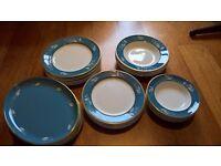 blue rapture vintage dinnerset