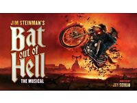 Bat Out Of Hell concert ticketsx2, London, 5th June 2017